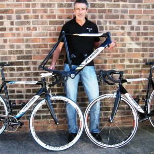 Steve Jones with his range of Velo Vitesse bike