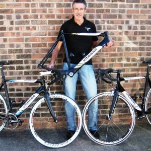 Steve Jones with his range of Velo Vitesse bike